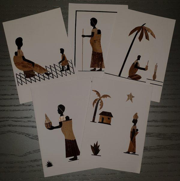 Kunstpostkarten mit afrikanischen Motiven