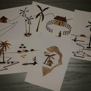 Afrika-Kunstpostkarten